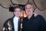 Dick Biondi with Mike Marino (Photo courtesy of Betti Marino-Wasek)