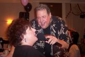 Ronnie Rice singing with Cindi Marino (Photo courtesy of Betti Marino-Wasek)