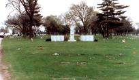 Queen of Heaven Cemetery, the peaceful final resting place of 25 of the child victims of the OLA fire. (Photo courtesy of Renee Jackson)