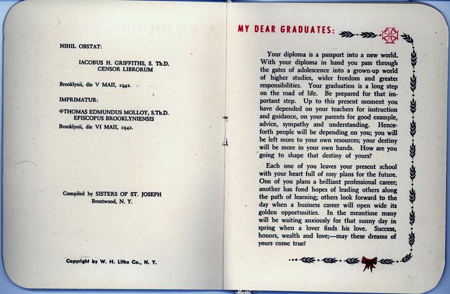 OLA Graduation Booklet from 1944, pages 3-4 (Courtesy of Frank Mason)