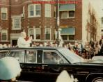 Pope John Paul II's motorcade during his historic visit to Chicago in 1979. (Photo courtesy of John Sullivan)