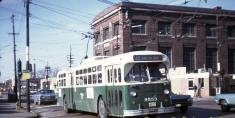 Route 65 bus at Pulaski & Grand in 1967 (Photo courtesy of Jerry Kasper)