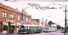 Route 65 bus at Pulaski & Grand in 1972 (Photo courtesy of Jerry Kasper)