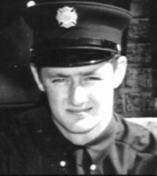 Joe Murray as a young firefighter